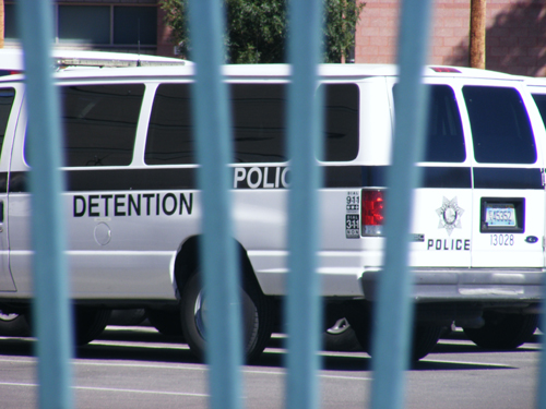 Las Vegas Jail Inmate - Detention Center Van
