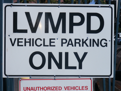 Las Vegas Jail Inmate - LVMPD Vehicle Parking Only